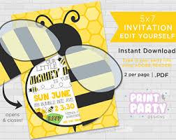 bumble bee birthday etsy