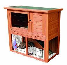 Advantek Stilt House Rabbit Hutch Amazon Com Rabbit Hutch With Sloped Roof M Glazed Pine Patio