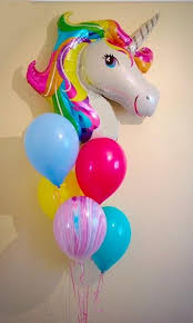 ballons delivered rainbow unicorn balloon bouquet gifts in the