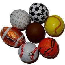 chocolate sports balls groovycandies store