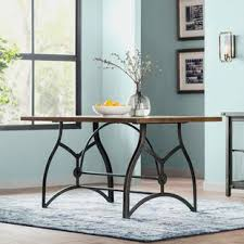 wood and metal dining table sets industrial kitchen dining tables you ll love wayfair