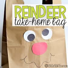 reindeer bag for christmas crafts mrs jones u0027 creation station