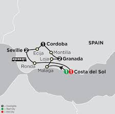 Andalucia Spain Map by Highlights Of Andalusia And Costa Del Sol Tour Cosmos