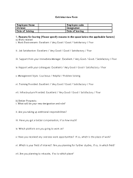 exit interview form sample 3 employment behavioural sciences