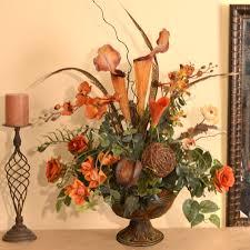 artificial floral arrangements floral home decor orchids pitcher plant and feather faux floral