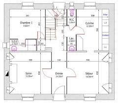 plan de maison avec cuisine ouverte réaménagement de gite plan b