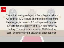 how many volts is a 12 volt battery fully charged youtube