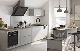 grey kitchen cabinets b q garcinia gloss light grey integrated handle fitted
