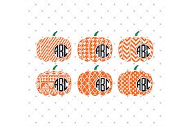 free halloween svg files halloween patterned pumpkin monogram fr design bundles