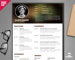 creative resume template free free creative resume template psd psddaddy