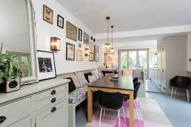 kitchen banquette seating dining room scandinavian with