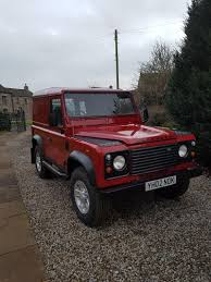 red land rover defender defender 90 td5 used land rover cars buy and sell in the uk and