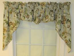 Floral Waterfall Window 1 Piece Valances Swags Window Toppers Thecurtainshop Com