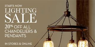 Pottery Barn The Lighting Sale Is On 20 Off All Chandeliers And