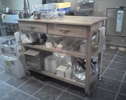 modern stainless steel kitchen cart to create sophistication