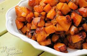 roasted apple butternut squash with maple cardamom glaze foodie