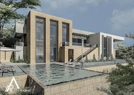 revit architecture modern bim render architect design