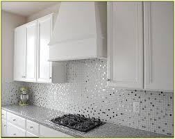 Mosaic Tile Kitchen Backsplash Stylish Lovely White Mosaic Tile Backsplash White Glass Mosaic
