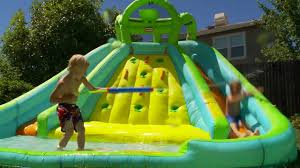 little tikes inflatable water slide u0026 bouncer youtube