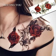 online get cheap rose tattoos aliexpress com alibaba group