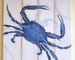 Crab Decorations For Home Blue Crab Etsy