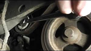 ford focus serpentine auxiliary belt change youtube
