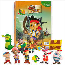 jake neverland pirates busy book 12 character figurines