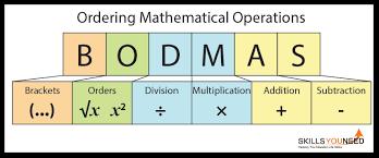 ordering mathematical operations bodmas skillsyouneed