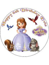 sofia the cake topper 7 5 circle sofia the personalised edible icing birthday cake