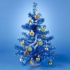 Christmas Tree With Blue Decorations - 15 classic star wars blue and silver tinsel mini christmas tree