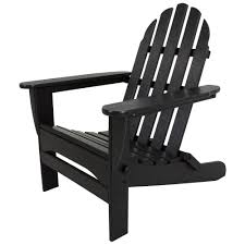 Adirondack Chair Plans Home Depot Polywood Classic Black Patio Adirondack Chair Ad5030bl The Home