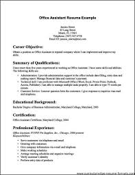 Office Assistant Resume Template Examples Of Administrative Assistant Resumes Resume Example And