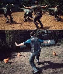 Meme Raptor - zookeepers are recreating chris pratt s moves in jurassic world