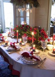 Dining Room Table Settings by Dining Room Festive Christmas Dinner Table Decorating Ideas To
