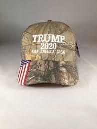American Flag Visor Trump 2020 American Flag Realtree Xtra Hat Keep America Great Maga