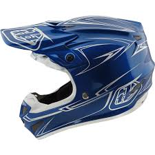 motocross helmets with visor new troy lee designs 2018 mx se4 poly pinstripe blue tld