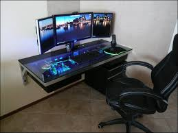 2013 awesome gaming setup and video editing station with cool leds