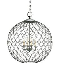dining room enchanting wire orb chandelier with four lights for