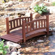6 ft japanese wood garden moon bridge with archedbuild arched