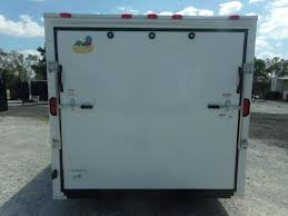 enclosed trailer led lights 2018 covered wagon trailers 7x14ta free 1 peice roof led lights and