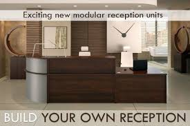 Modular Reception Desks Bespoke Walnut Modular Reception Desk Design Your Own