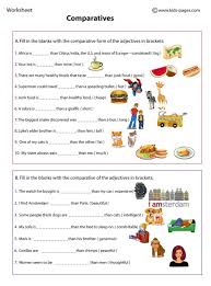 comparatives worksheets feelings adjectives pinterest