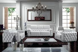 White Leather Living Room Set All White Living Room Set Modern White Leather Living Room Set