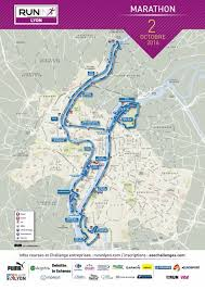 Map Run Route by Run In Lyon World U0027s Marathons