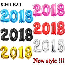 happy new year balloon aliexpress buy chlezi 4pcs 30inch number 2018 foil balloons