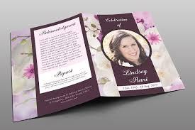 funeral program design orchid funeral program brochure templates creative market
