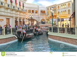 Venetian Hotel Map Gondola Rides In Venetian Hotel In Las Vegas Editorial Stock Photo