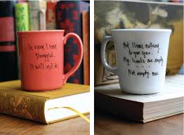 interesting mugs sarah fritzler diy literary quote mugs