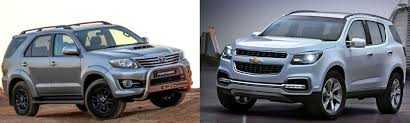 chevrolet trailblazer 2015 quick comparo chevrolet trailblazer vs toyota fortuner u2013 the wheelz