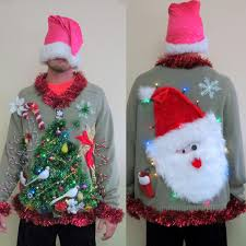 double sided light up christmas sweater garland 2 doves u0026 a pear